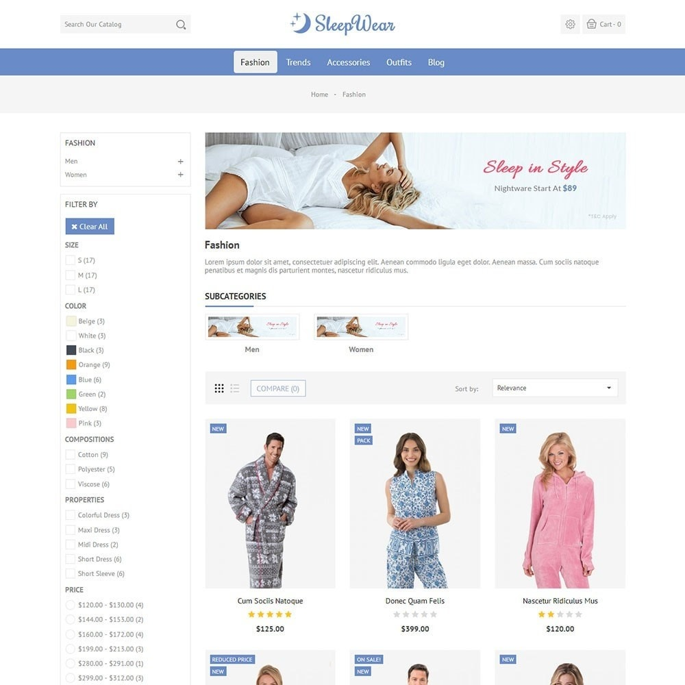 theme - Lingerie & Adulti - Sleep Wear Store - 3
