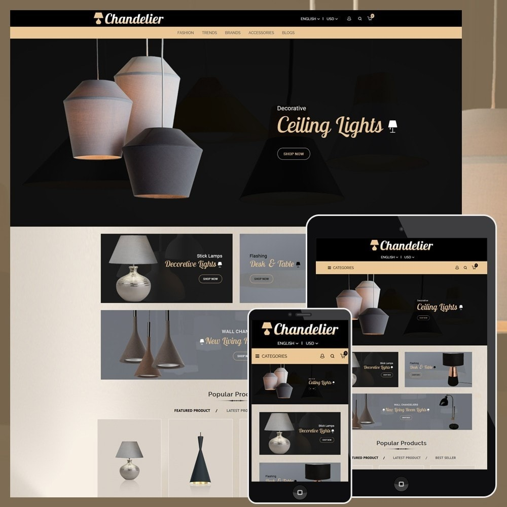theme - Casa & Giardino - Chandelier Store - 1