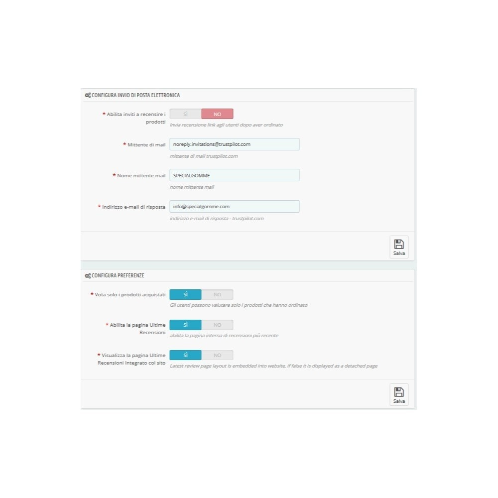 module - Recensioni clienti - ITC TrustPilot Manager - 3