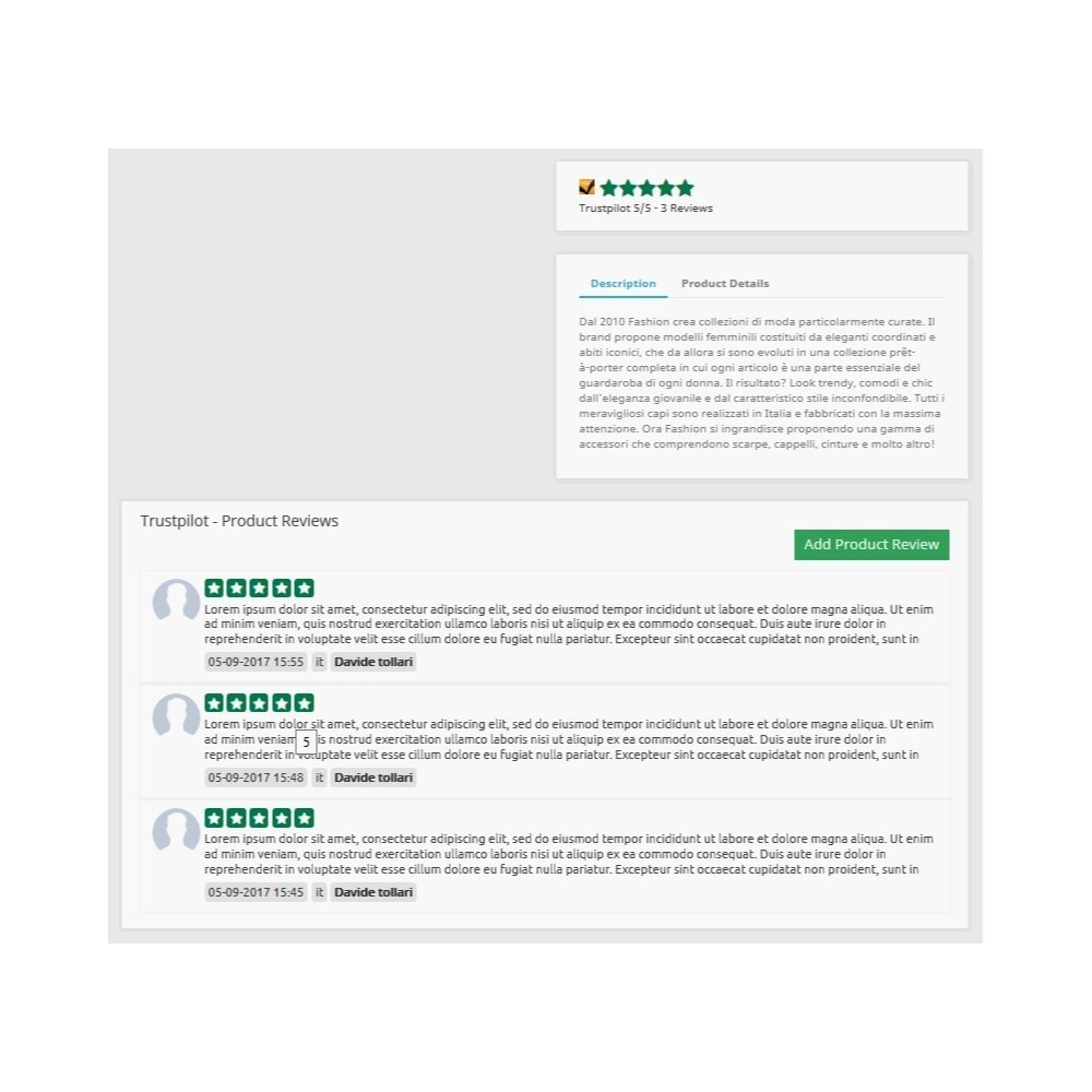 module - Customer Reviews - ITC TrustPilot Manager - 9