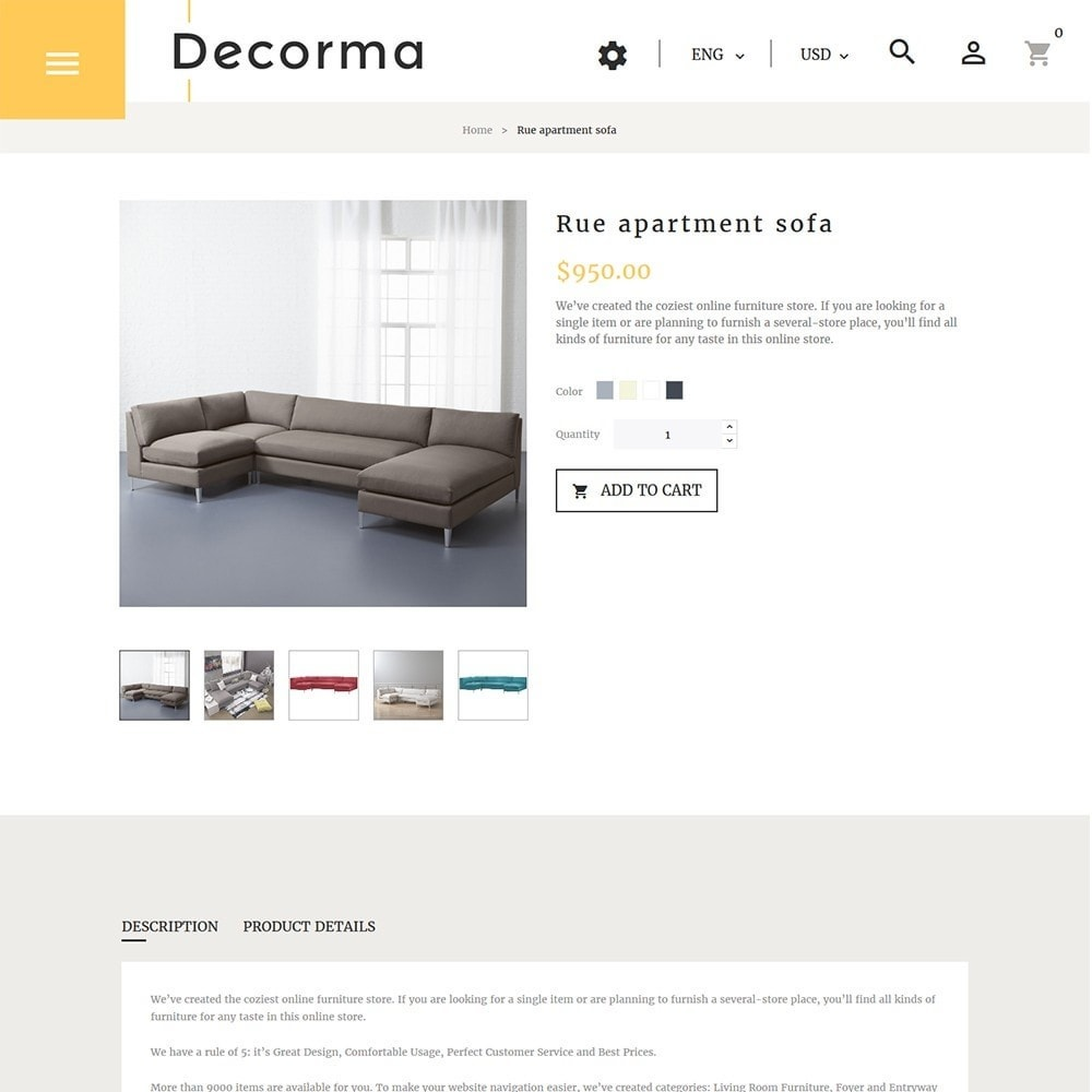 theme - Art & Culture - Decorma - Furniture Responsive - 5
