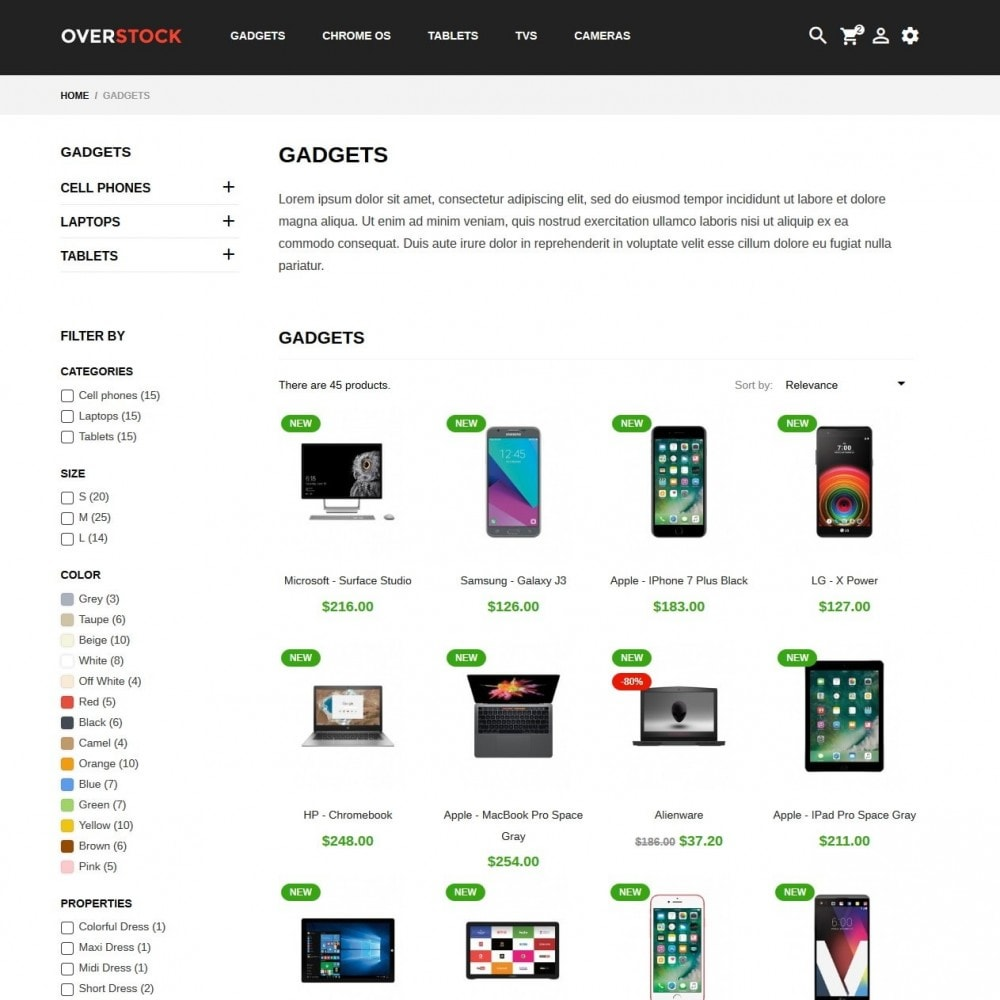 Technology Store Prestashop Template