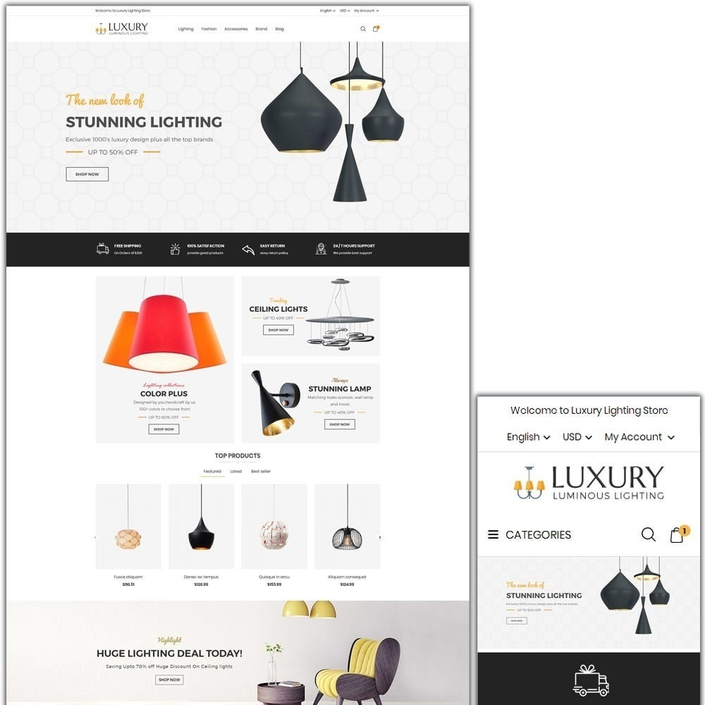 theme - Дом и сад - Luxury Lighting Store - 1