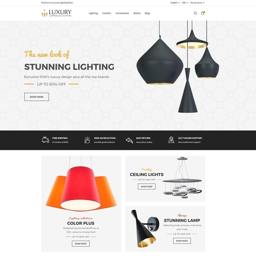 theme - Home & Garden - Luxury Lighting Store - 2