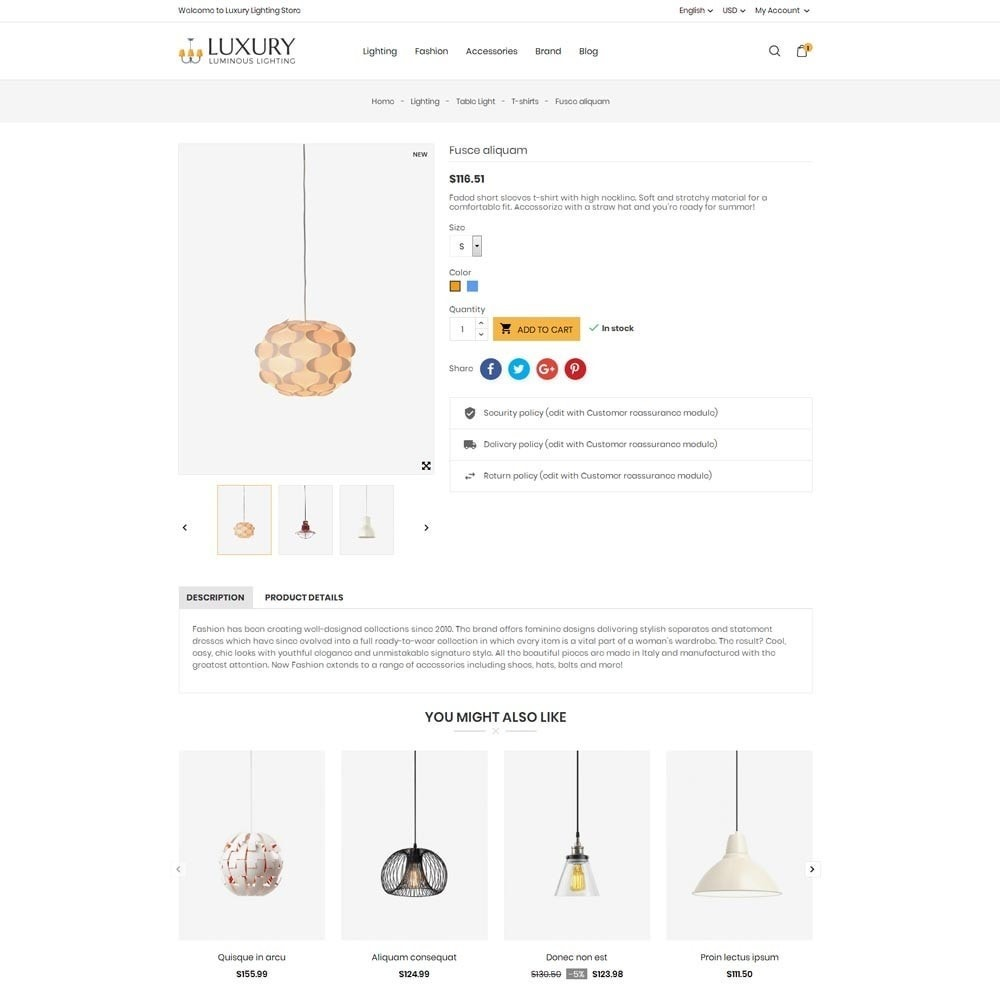 theme - Home & Garden - Luxury Lighting Store - 7