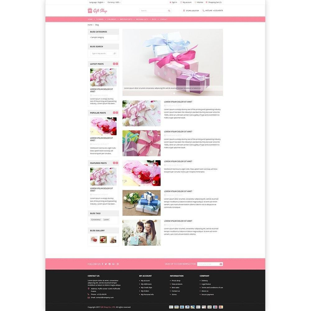theme - Presentes, Flores & Comemorações - Gift Shop - For gift, flower, toy & accessories stores - 5