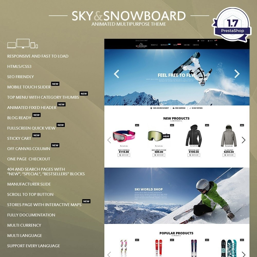 theme - Sport, Loisirs & Voyage - Ski & Snowboard - Magasin pour sports - 1