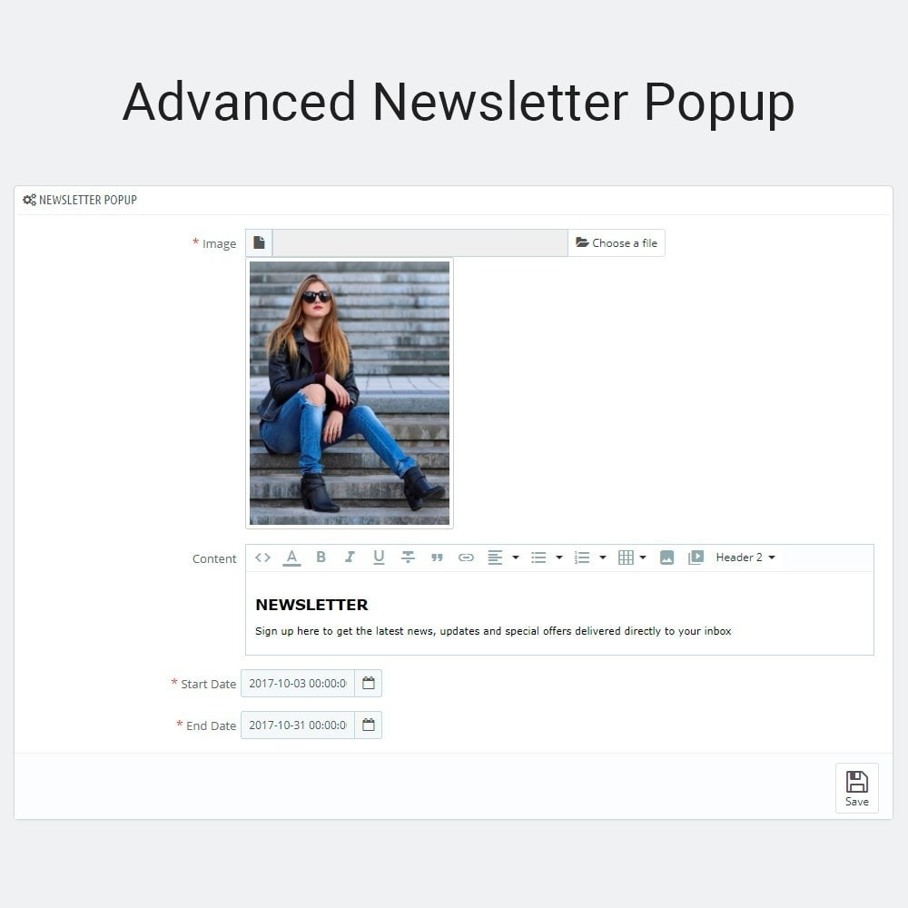 module - Pop-up - Email Marketing Newsletter Subscription Popup - 3