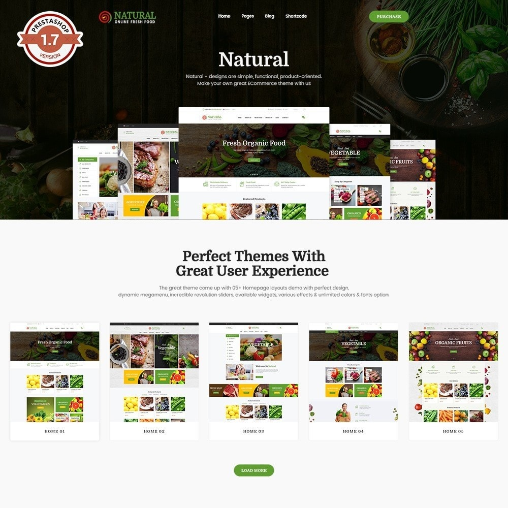 theme - Food & Restaurant - Pts Natural – Fresh Organic Food - 1