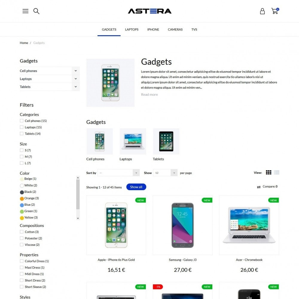 theme - Elettronica & High Tech - Astera - High-tech Shop - 5