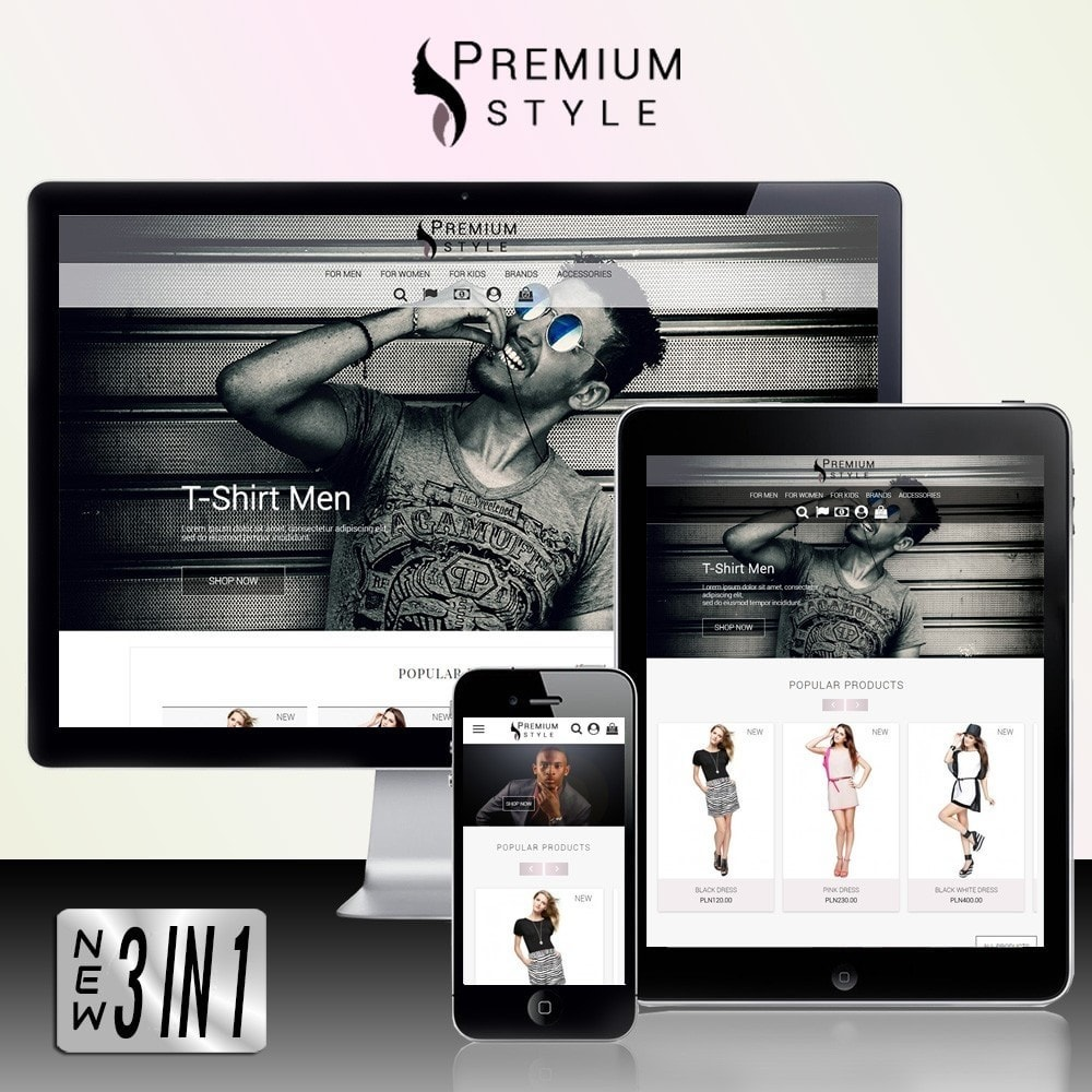 theme - Mode & Chaussures - Premium Style 3 in 1 - 1