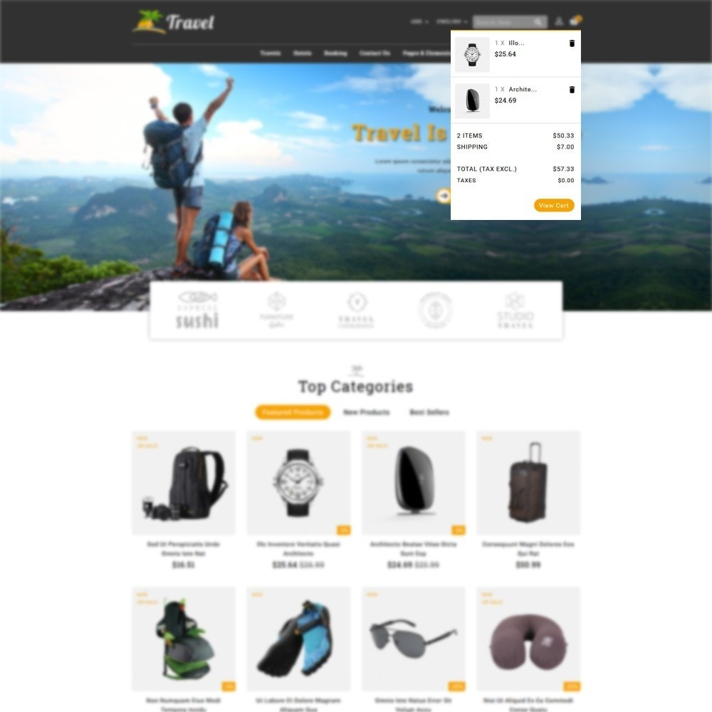theme - Sport, Loisirs & Voyage - Travel Store - 6