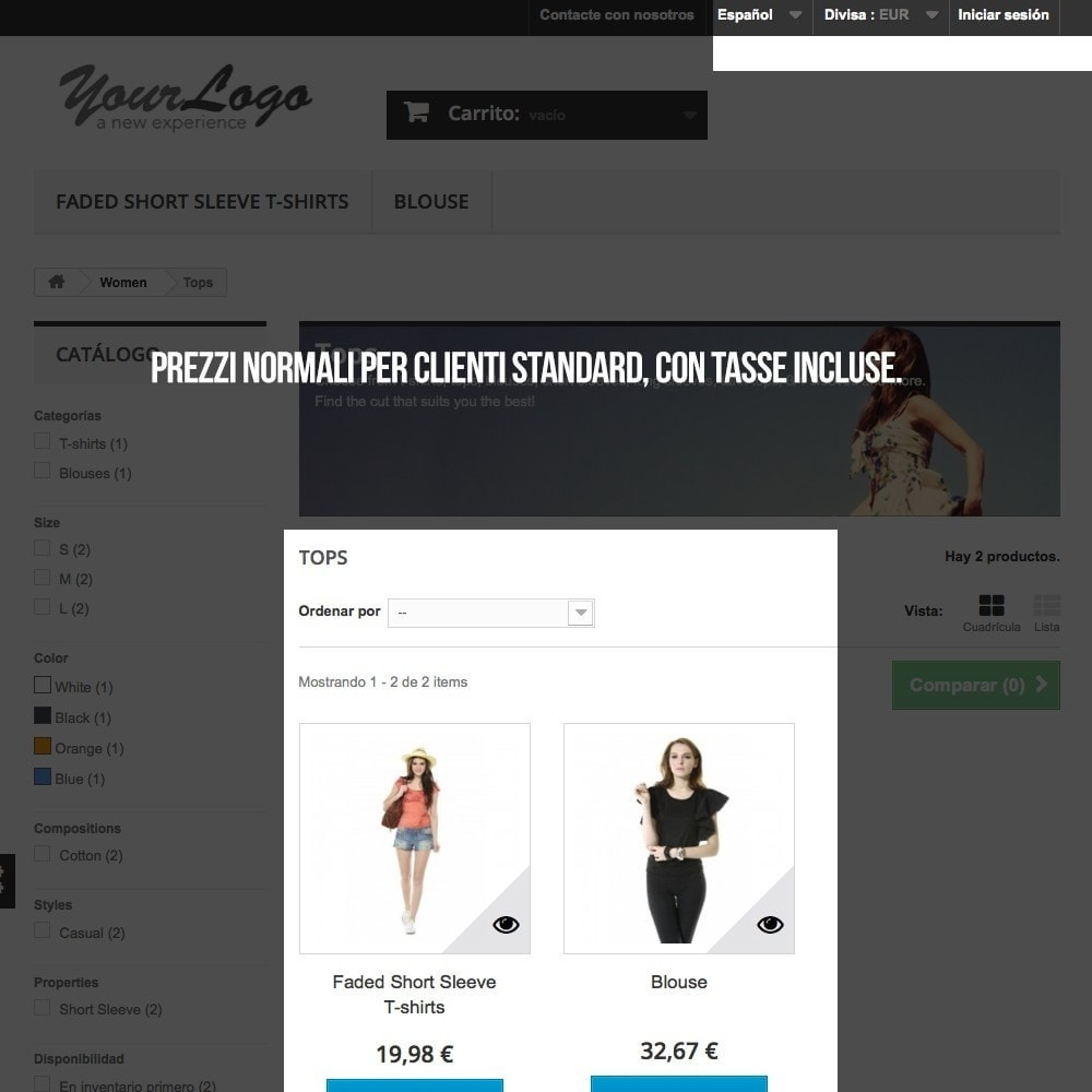 pack - B2B - Pack 2 - Negozio Prestashop B2B (privatizzazione) - 7