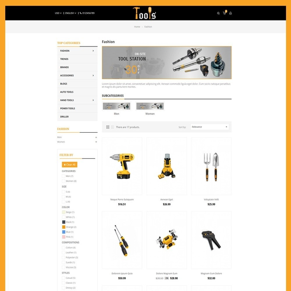 theme - Automotive & Cars - Tools Store - 6