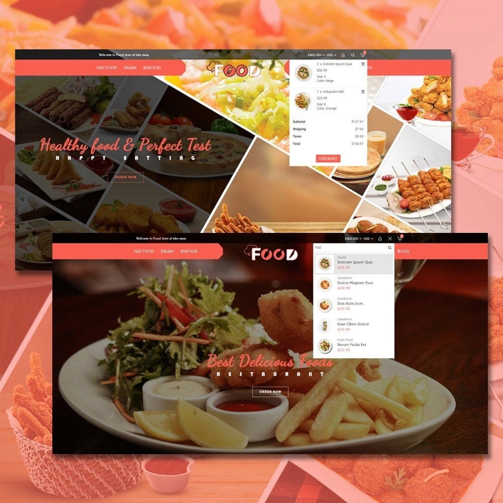 theme - Lebensmittel & Restaurants - Food Restro - 3