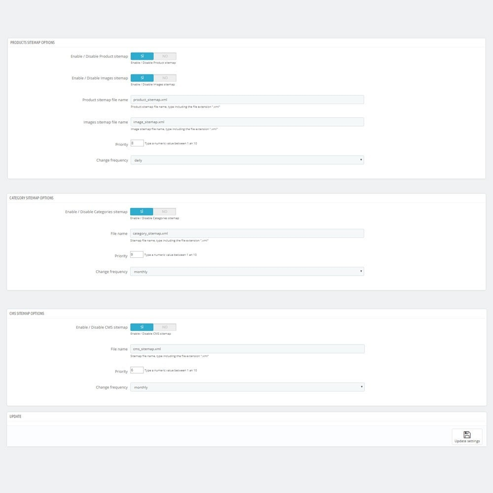 module - SEO (Posicionamiento en buscadores) - AW XML Sitemap Generator - 2