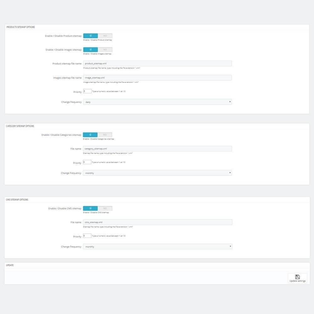 module - Естественная поисковая оптимизация - AW XML Sitemap Generator - 3