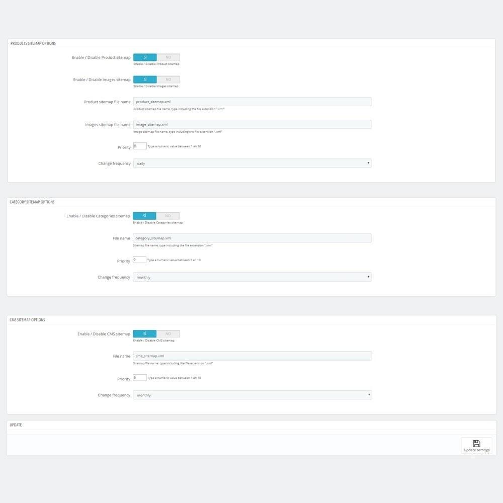 module - SEO (Posicionamiento en buscadores) - AW XML Sitemap Generator - 3