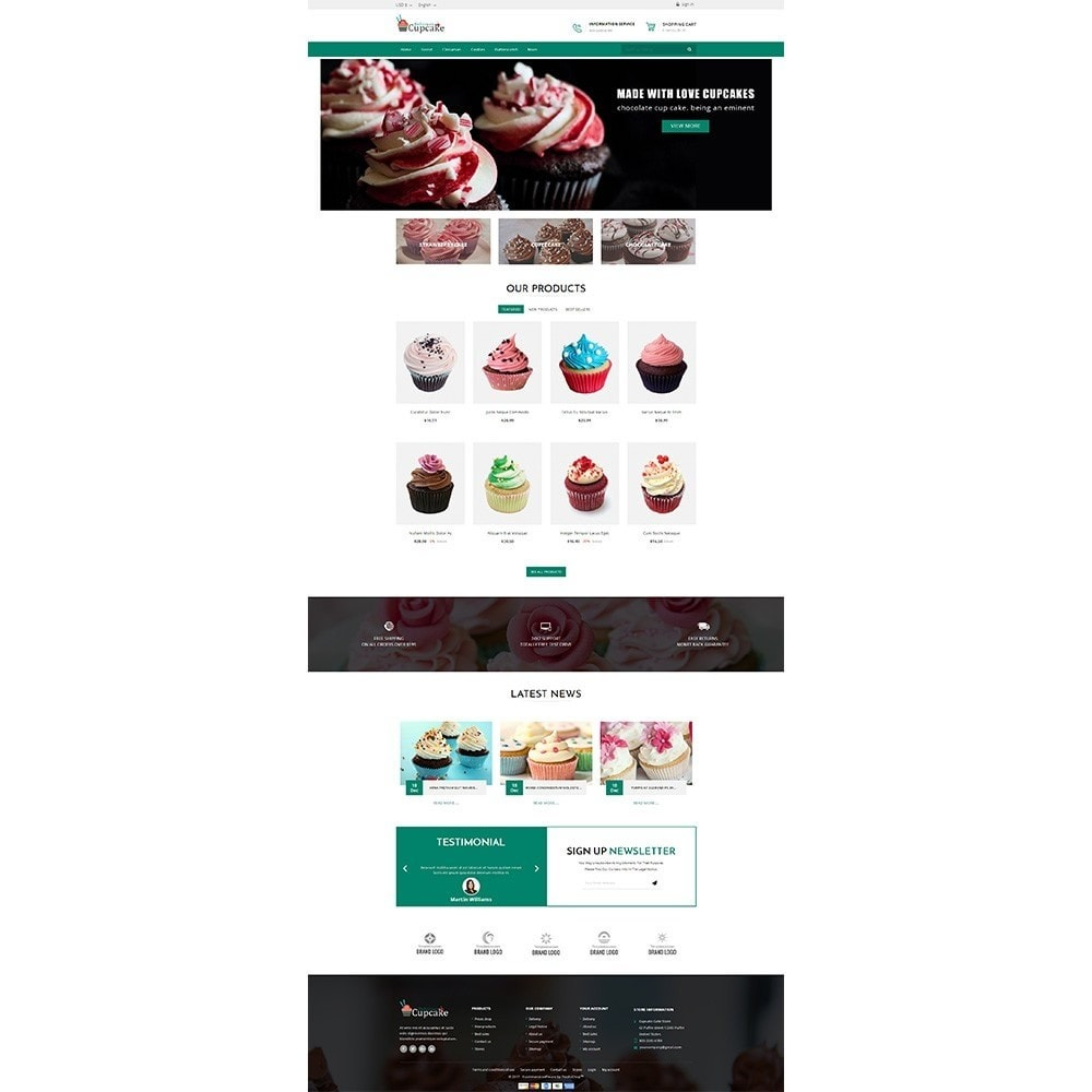 theme - Food & Restaurant - Cupcake Cake Shop - 2
