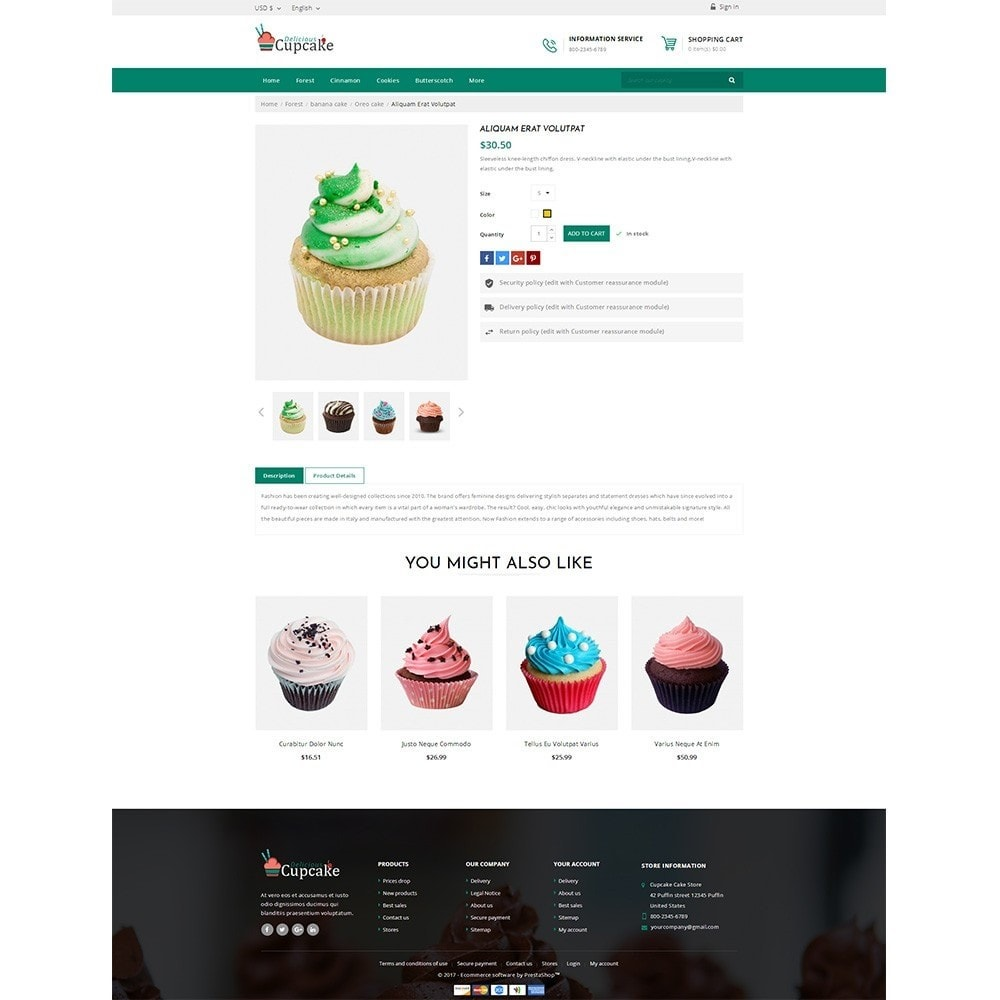 theme - Alimentation & Restauration - Cupcake Cake Shop - 4