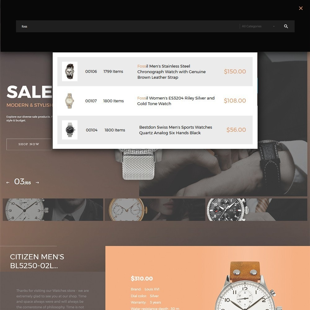 theme - Moda y Calzado - Watchelli - para Sitio de Relojes - 5