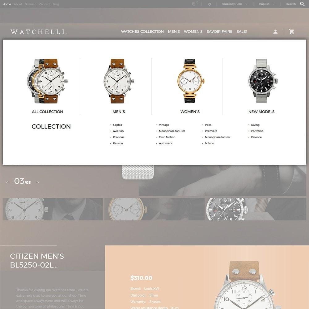 theme - Moda & Calzature - Watchelli - per Un Sito di Orologi - 6