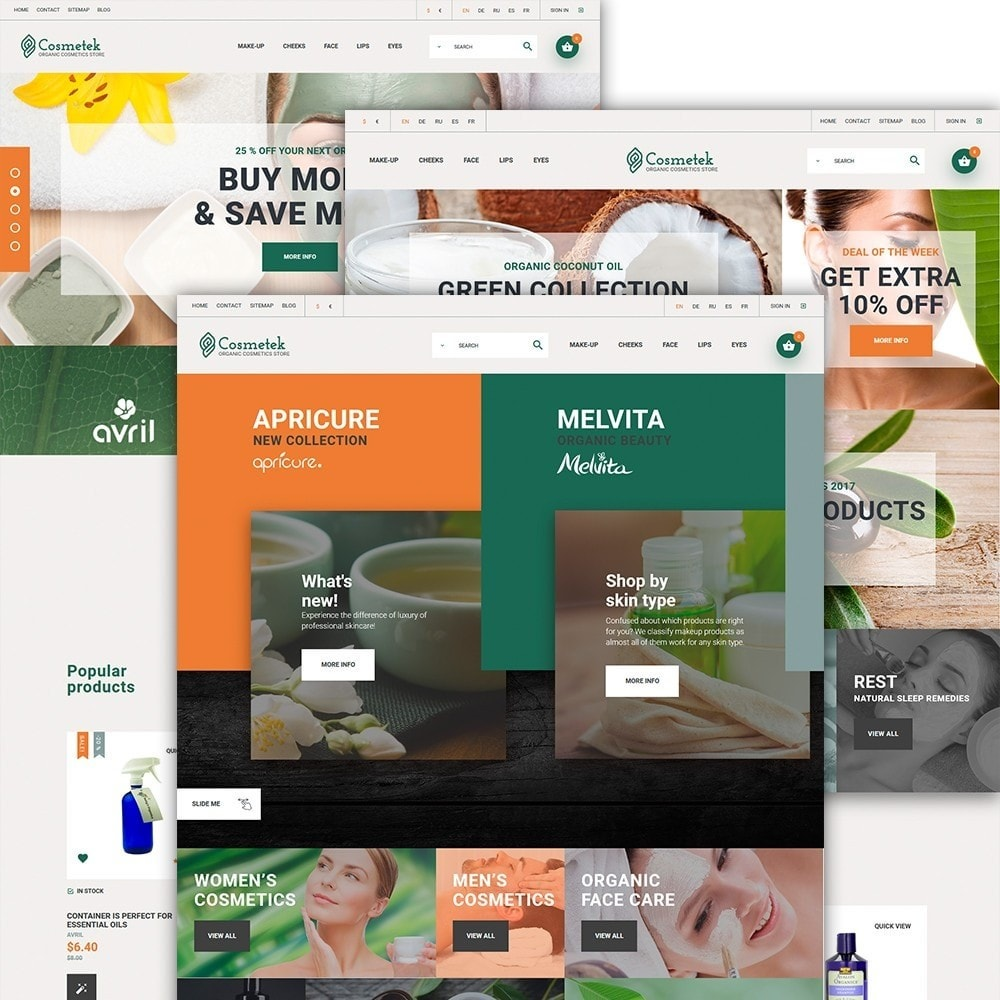 theme - Fashion & Shoes - Cosmetek - Organic Cosmetics Store - 2