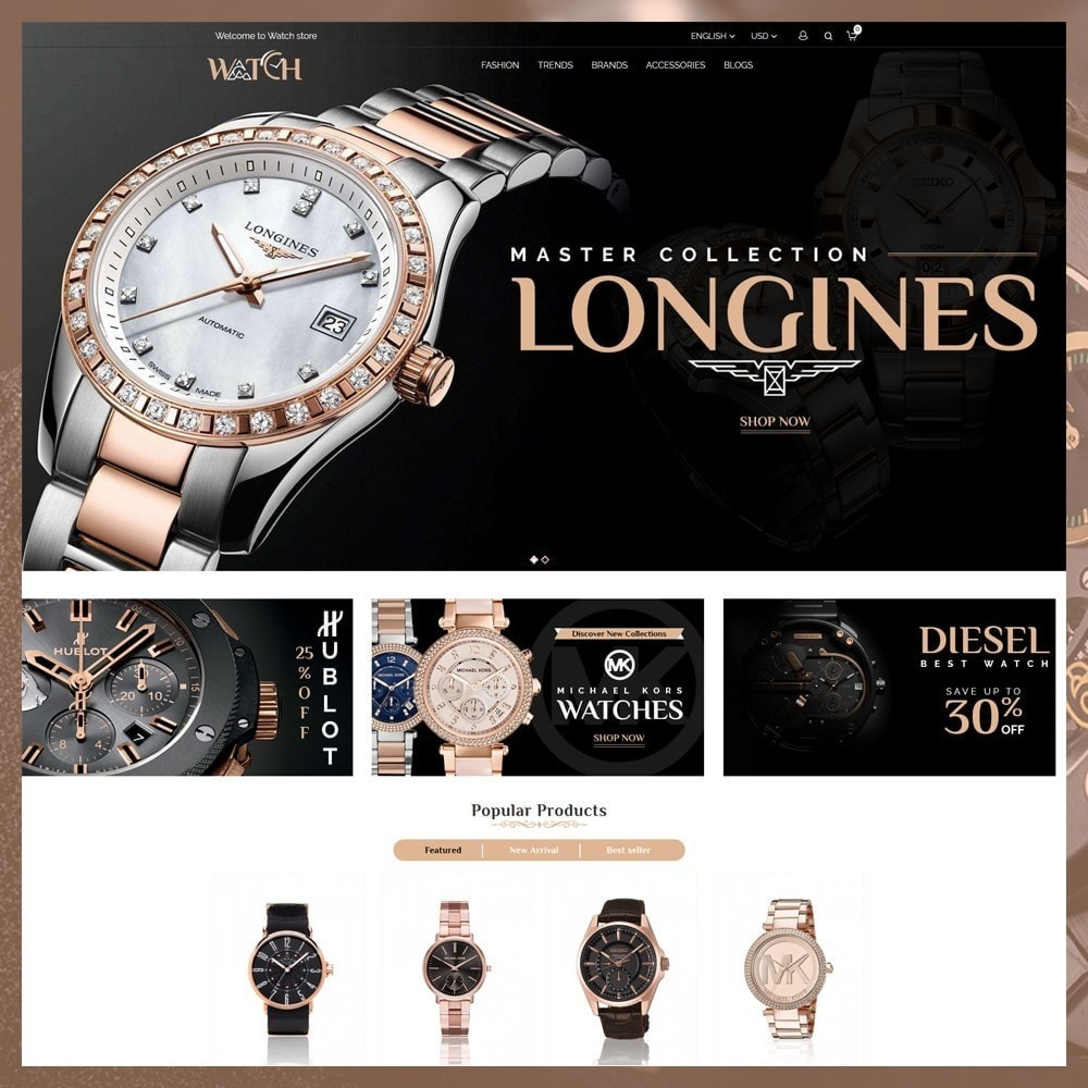 theme - Jewelry & Accessories - Luxury Watch Shop - 2