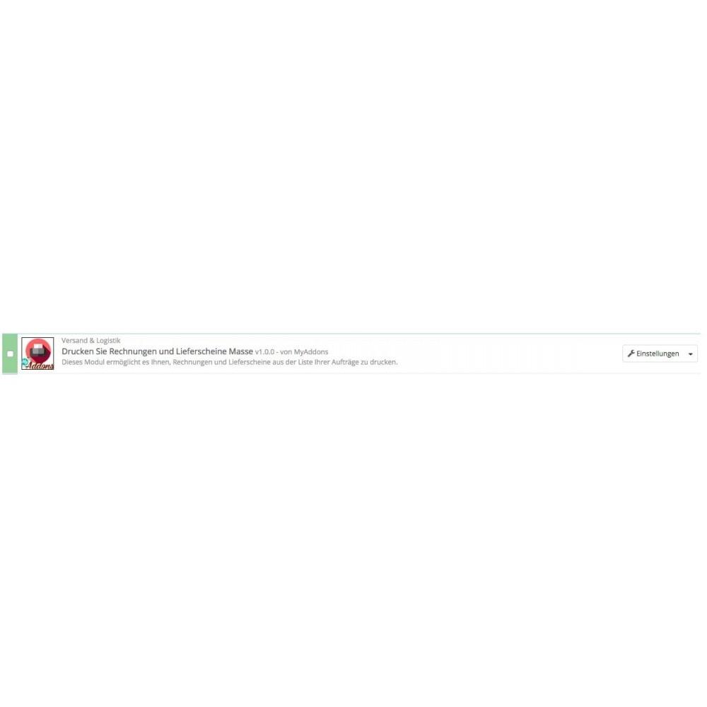 module - Buchhaltung & Rechnung - Rechnungen und Massengutschein drucken - 2