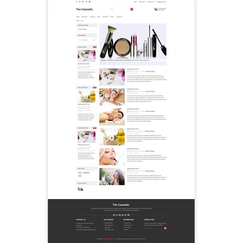 theme - Zdrowie & Uroda - The Cosmetics - Beauty, health and cosmetic store - 5