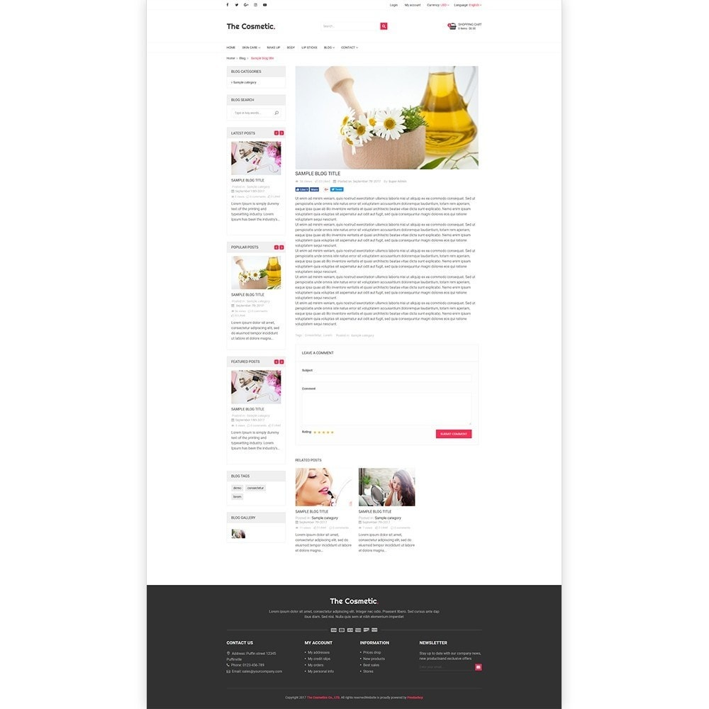 theme - Santé & Beauté - The Cosmetics - Beauty, health and cosmetic store - 6