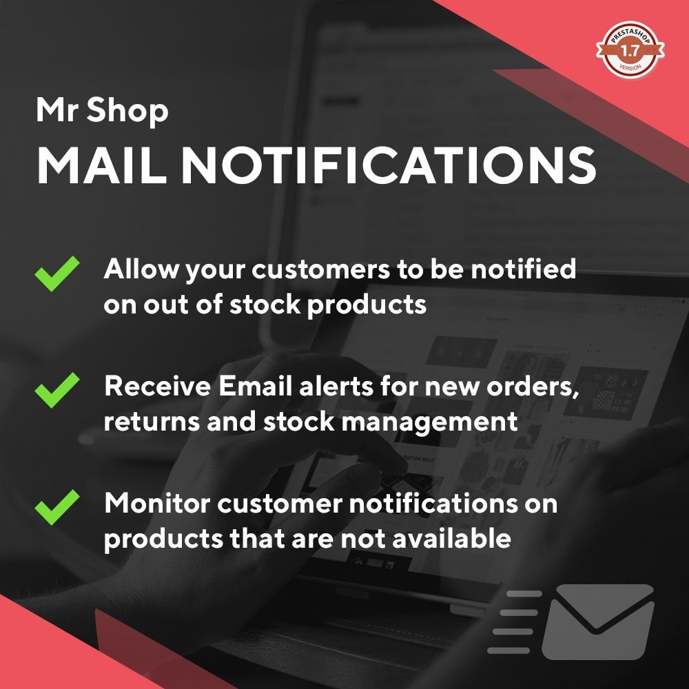 module - Notifications & Automatic Emails - Mr Shop Mail Notifications - 1