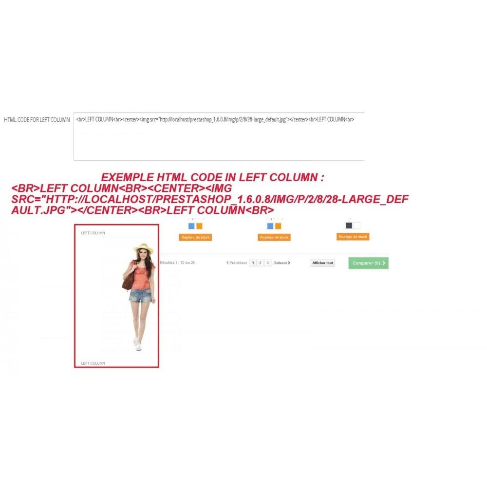 module - Personalización de la página - INSERT HTML CODE - 1