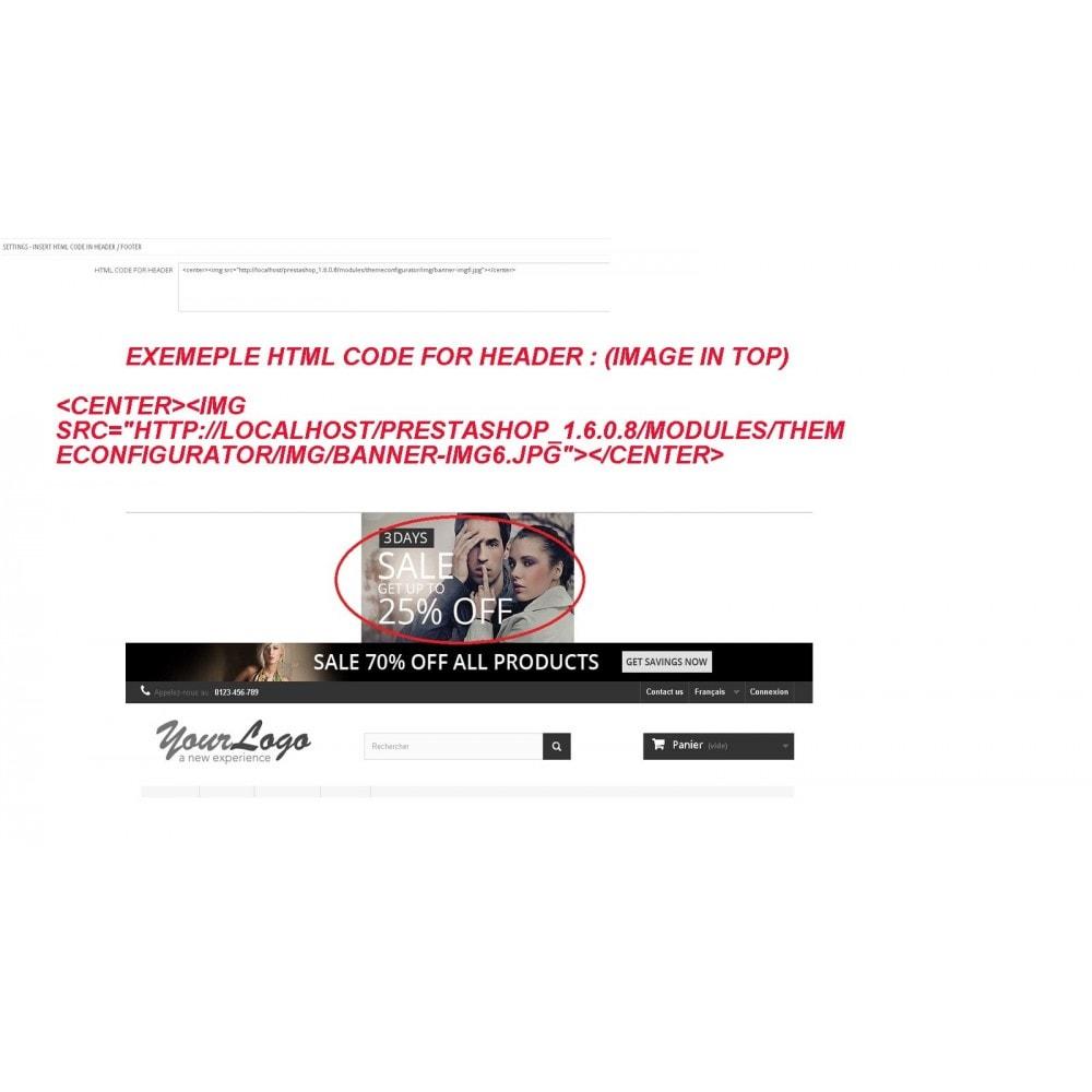 module - Personalización de la página - INSERT HTML CODE - 4
