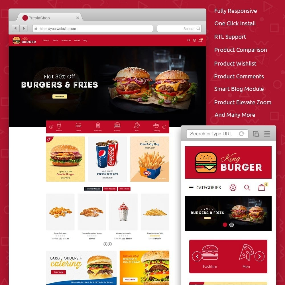 theme - Alimentation & Restauration - King Burger Store - 1