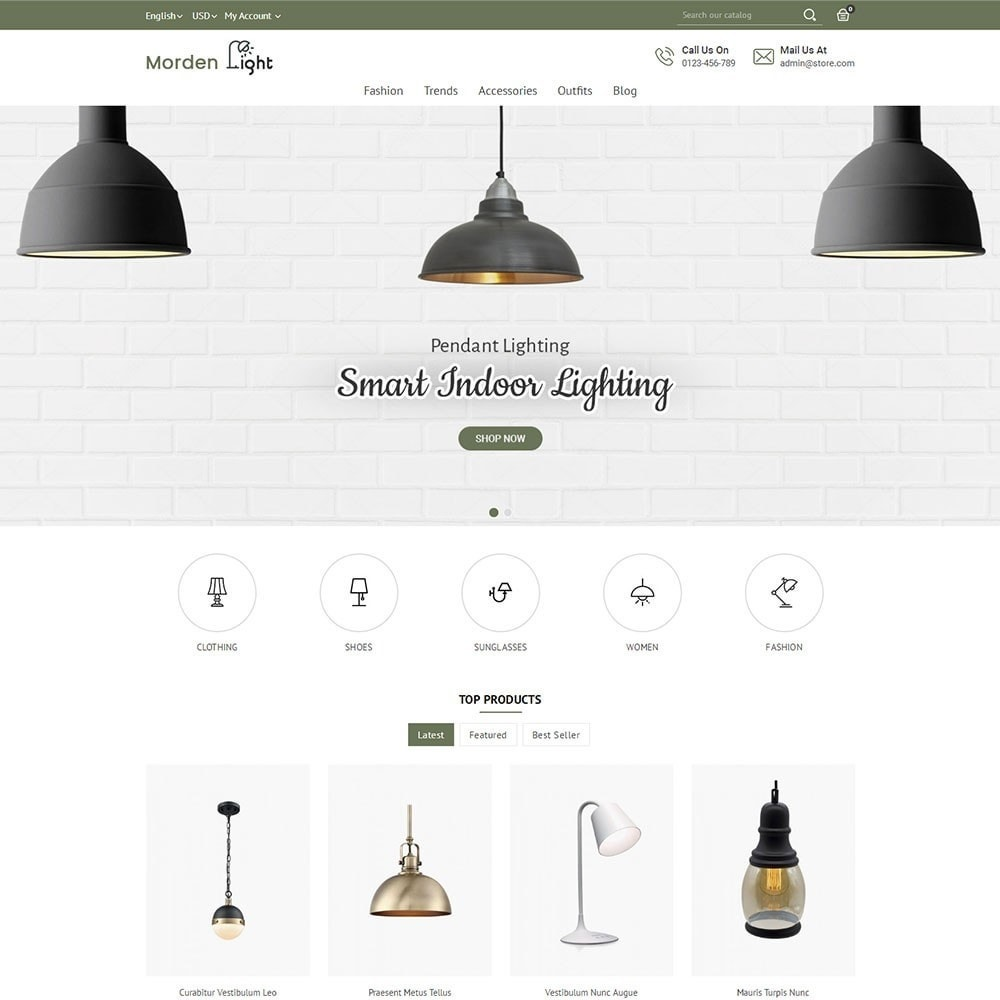 theme - Casa & Giardino - Morden Light Store - 2