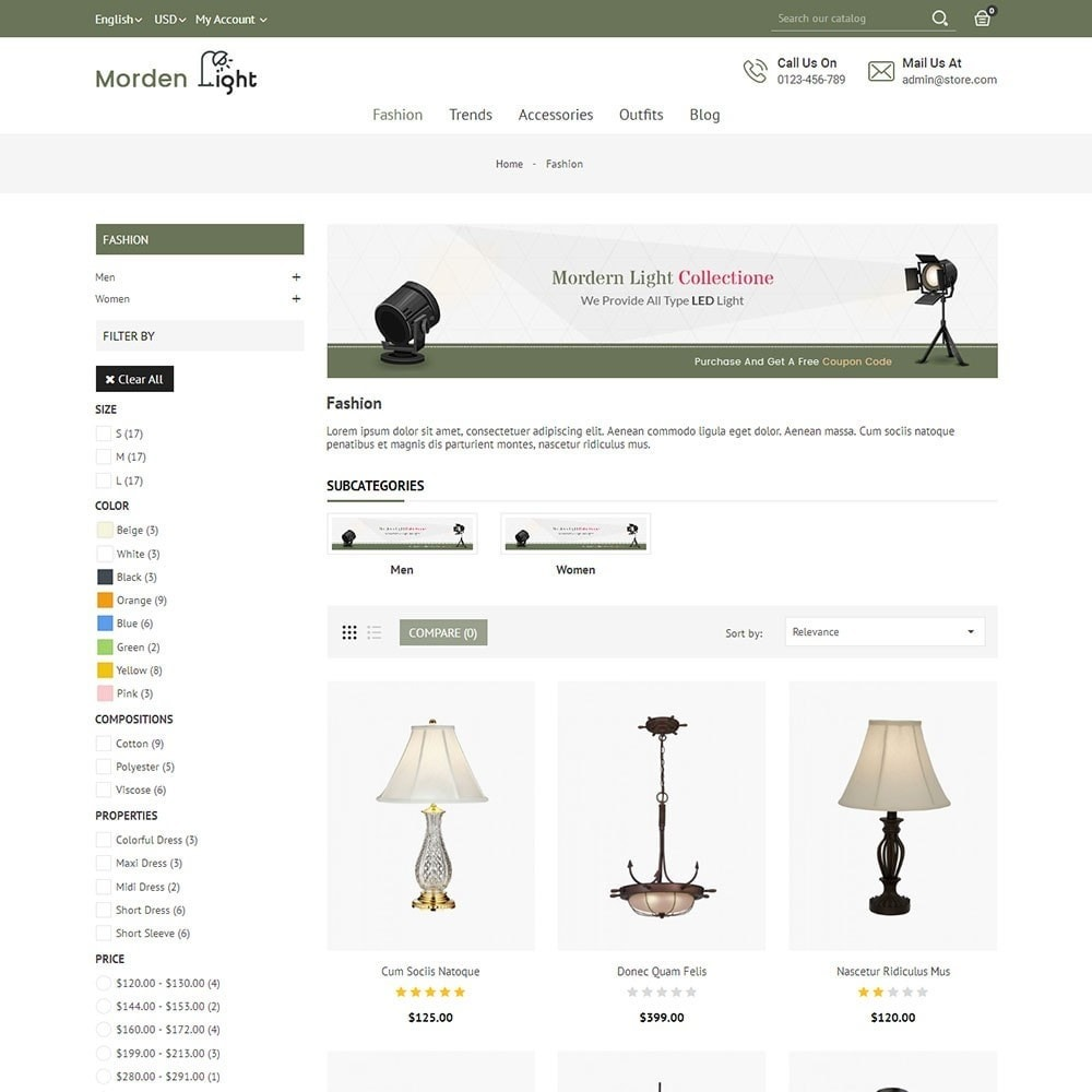 theme - Maison & Jardin - Morden Light Store - 3