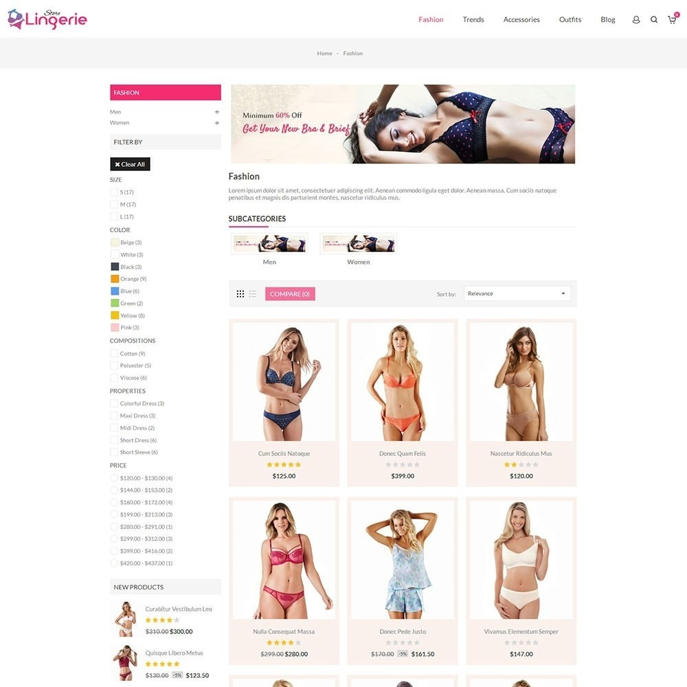 theme - Lingerie & Adult - Lingerie Store - 3