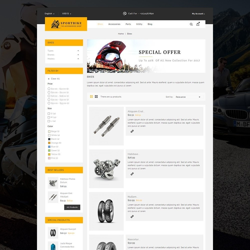 theme - Auto's & Motoren - Sports Bike Auto Store - 5