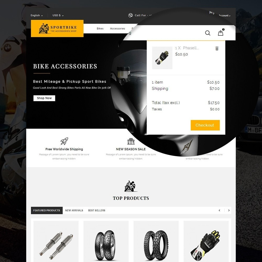 theme - Carros & Motos - Sports Bike Auto Store - 7