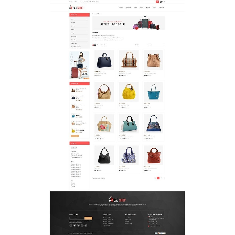 theme - Fashion & Shoes - Bag Store - 3