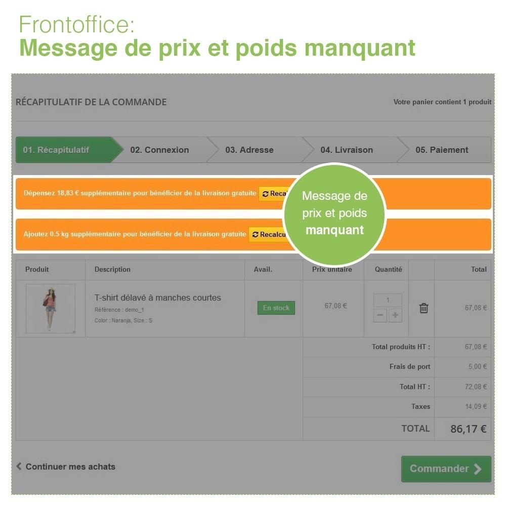module - Frais de port - Livraison Gratuite par Zone/Transporteur- Frais de Port - 6