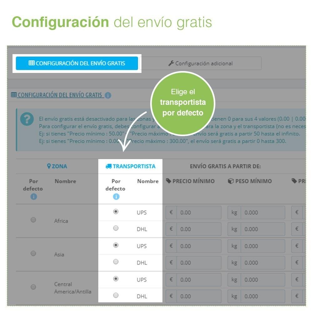 module - Gastos de transporte - Envío Gratis por Zona, Transportista, Peso y Precio - 4