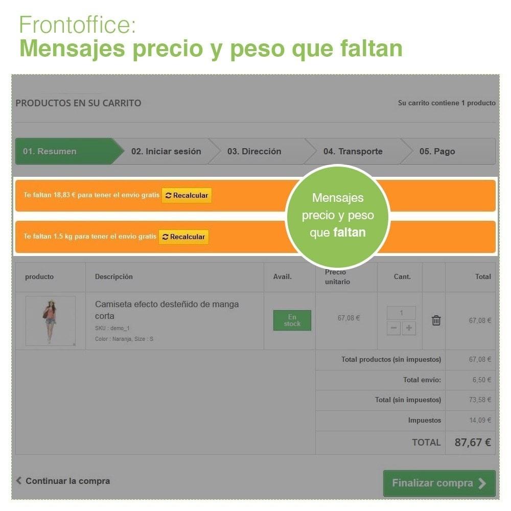 module - Gastos de transporte - Envío Gratis por Zona, Transportista, Peso y Precio - 6