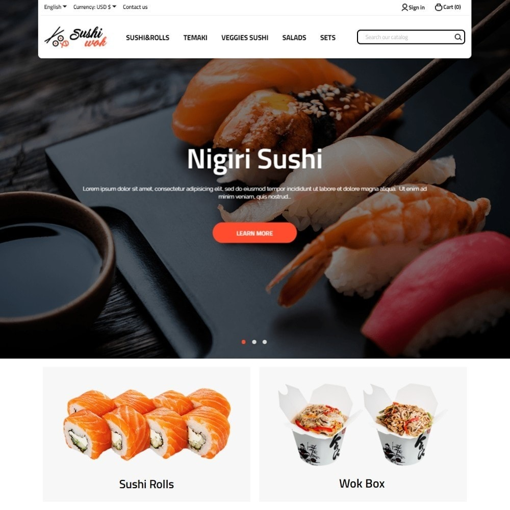 theme - Lebensmittel & Restaurants - Sushi Wok - 2