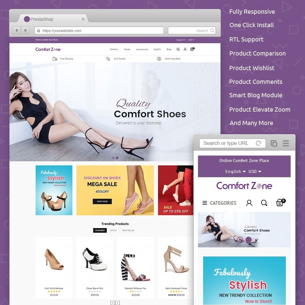 theme - Мода и обувь - Comfort Zone Shoes Store - 1