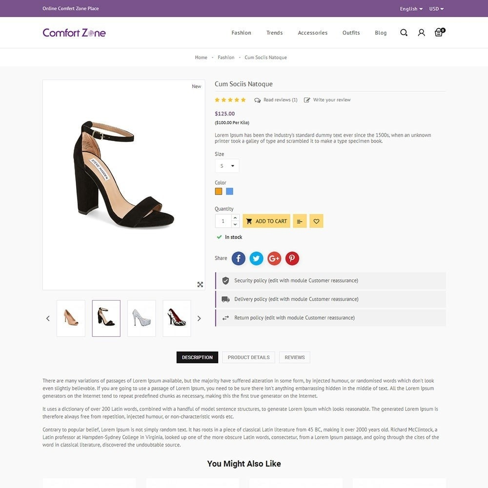 theme - Moda y Calzado - Comfort Zone Shoes Store - 5