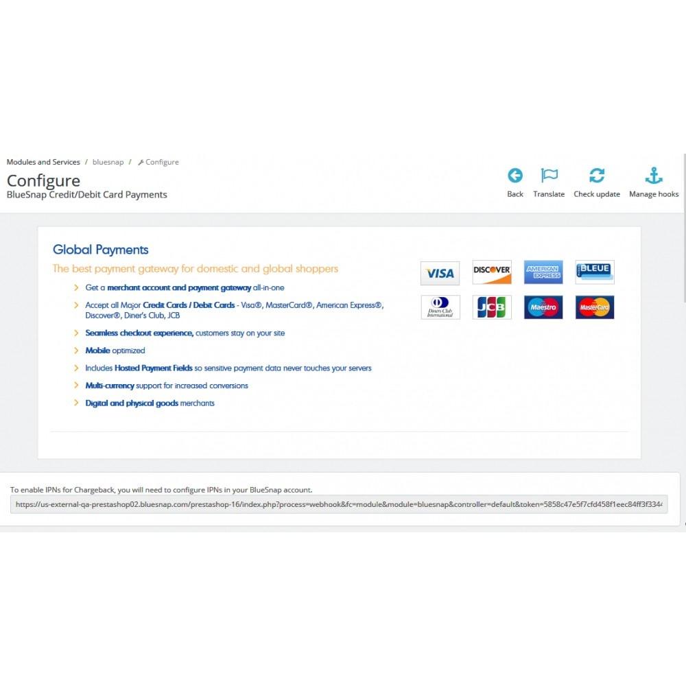 module - Оплата банковской картой или с помощью электронного кошелька - BlueSnap - 1