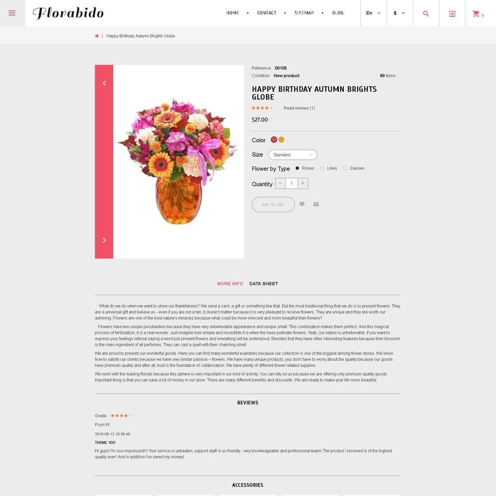 theme - Regali, Fiori & Feste - Florabido - per Un Sito di Negozio di Fiori - 4