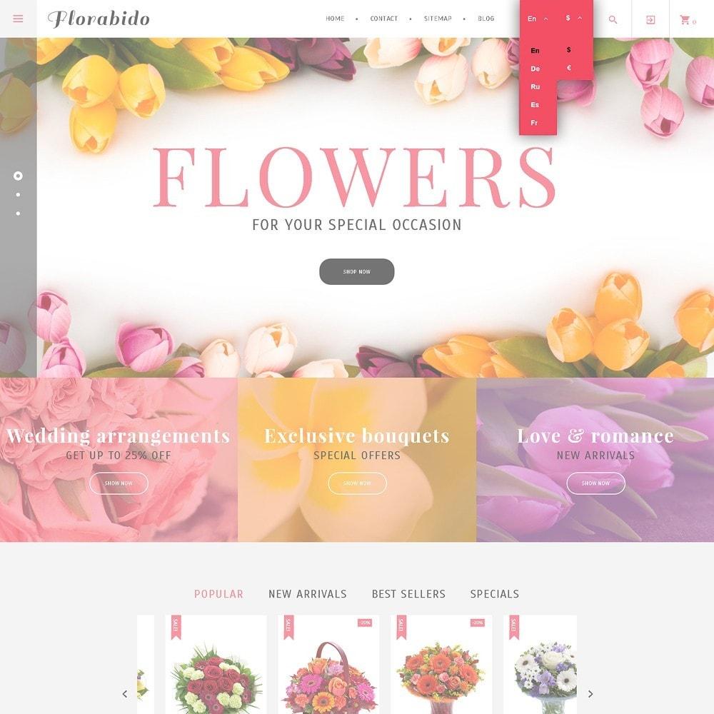 theme - Regali, Fiori & Feste - Florabido - per Un Sito di Negozio di Fiori - 7